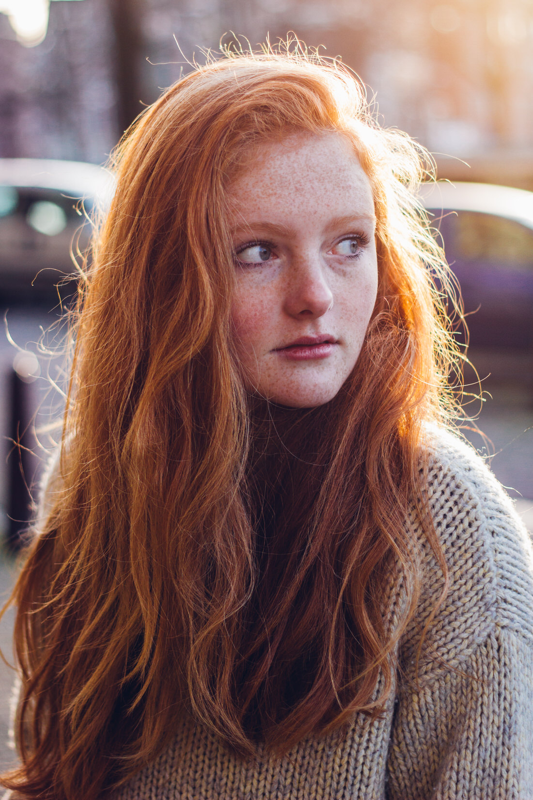 girl red hair freckles
